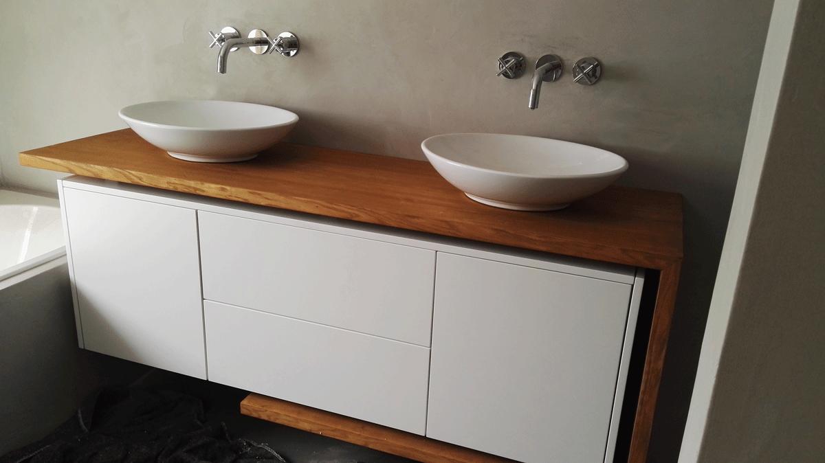 Modern badkamermeubel meubelmakerij simon alberink keukens
